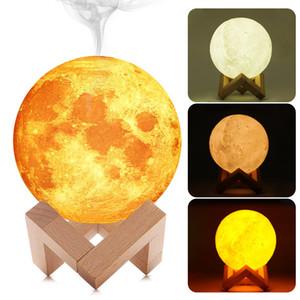 880ML увлажнитель воздуха эфирное масло диффузор 3D Moon лампы свет USB Ultrasonic Humidificador Ночь прохладный туман очиститель