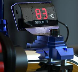 Водонепроницаемый мотоцикл датчик температуры светодиодный цифровой дисплей мотоцикл температуры воды