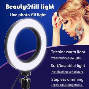 16cm 26cm studio photographique selfie Ring Lumière 3200K-5500K Dimmable LED d'éclairage avec trépied bureau USB Portable Câble