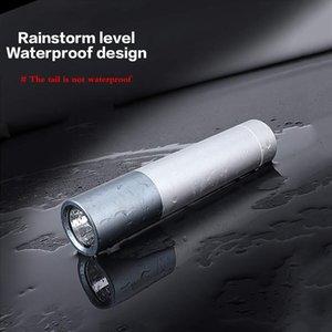 BRELONG açık LED el feneri, USB doğrudan şarj çok fonksiyonlu şarj hazine mobil güç, 5 çeşit aydınlatma modu alüminyum el feneri