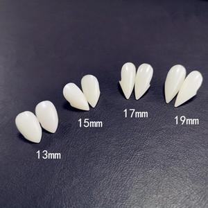 4 Superficie denti del vampiro Cosplay Zanne Protesi puntelli costume di Halloween Props favori di partito per le vacanze fai da te Tatuaggi Horror per adulti per i bambini