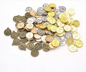 26x5 pçs / lote Metal Do Vintage A a Z Letra Do Alfabeto Encantos Acessórios de Moda Diy Relógio Engrenagem Pingente Encantos para Fazer Jóias