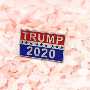 Trump 2020 Brooches Designer Presidential Election Broches métalliques Broches de luxe Bijoux Femme Homme Party Favor cadeaux ED5Z Brooches