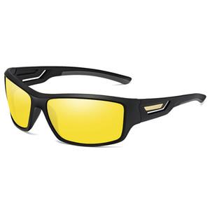 New Night Vision Driving Sonnenbrillen Yellow Lens Wrap Brillen Dark Driving Brillen Anti-Glare Outdoor-Brillen Hochwertige Driving Sonnenbrillen