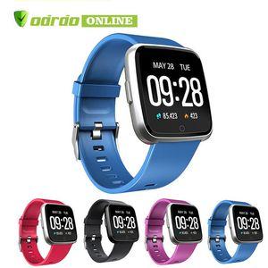 NUEVO para el iPhone de Apple teléfono inteligente Y7 Mujeres fitness pulsera del reloj del deporte del perseguidor impermeable del monitor de ritmo cardíaco Muñequera pk Versa