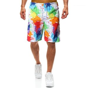 Shorts Loose Drawstring Fashion Print Beach Shorts New Mens Designer Summer Casual Print