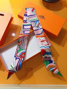 2020 женская мода шелковый пояс шарф красивый микс и матч дизайн девушки шарф головной платок оголовье сумка ручка обернуть небольшой шарф TT01