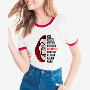 도매 2020 여름 종이 돈 하우스 라 카사 드 PAPEL 새로운 여성의 반소매 T 셔츠