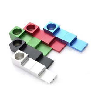 Творческое Магнит Whistle Дымовые трубы Складные Building Block Design фильтр сигареты металла трубы Smoking Handpipe Инструмент Аксессуары 5 8ek E1