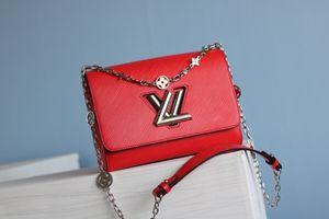 2020 HOT sale fashion shoulder bag designer handbag Monogram floral crystal Twist twist lock crossbody bag fashion style free shipping