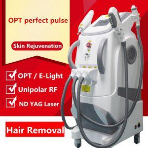Ağrı olmadan donma noktası İşlevli ipl lazer rf yüz germe dövme epilasyon makinesi elight opt shr rf nd yag lazer ipl