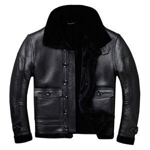 Real Fur Coat Men Sheep Shearing Genuine Leather Jacket Men Natural Wool Coat for Mens Clothing Plus Size Casaco 803 YY763