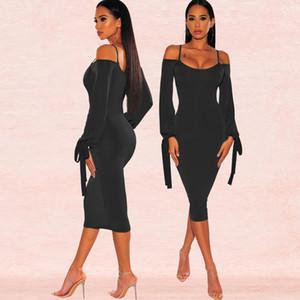 Tasarımcı Elbise Moda Off Omuz Sling Sıkı Seksi Elbiseler Kadınlar Önlük Casual Luxury Yaz Katı Renk Etek Marka Modelleri Kadın