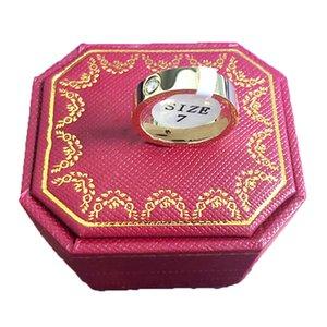 Titanyum Çelik Düğün severler Halka kadınlar için CZ Zirkonyum altın nişan yüzükleri erkekler takı hediyeler PS8401 gül