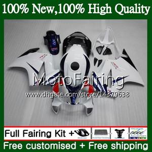 Комплект для Honda Interceptor VFR800RR синий белый 02 03 04 05 06 07 69MF5 VFR800 RR VFR 800R 2002 2003 2004 2005 2006 2007 обтекатель кузова
