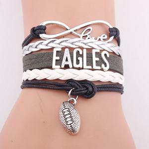 Manual leather accessories popular baseball team letter ASTROS bracelets