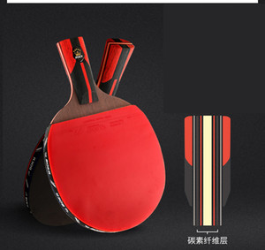 1 Piece 6-Stars Professional Carbon Fiber 7 Layers Table Tennis Bat Racket Long Short Handle Ping Pong Paddle Racket With Bag T190927