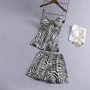 V-Neck Nightgown Set Summer Womens Nightdress Sleeveless Strap Top Short Pants Sleep Suit Sexy Sleepwear Pajamas Gown Nighties