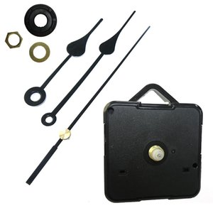 Fai da te Orologio Meccanismo nero fai da te orologio al quarzo Movimento Kit mandrino meccanismo di riparazione con la mano Imposta Punto croce movimento dell'orologio
