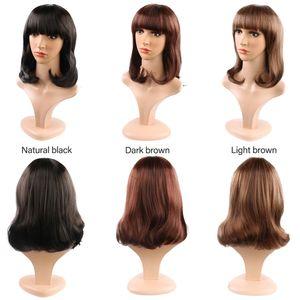 2019 peluca entera moda mujer afeitado pelo largo en la cara golpea peluca caliente cubierta