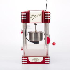 220V Faydalı Vintage Retro Elektrikli Popcorn Popper Makinesi Ev Partisi Aracı AB Tak DIY Mısır Popper Çocuk Hediye Sıcak Hava