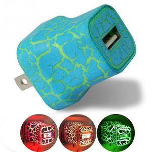 iphone Telefon Evrensel Seyahat Duvar ABD Plug İçin Kafa İçin Samsung S8 Şarj LED Taşınabilir Hızlı Şarj Şarj USB Crack