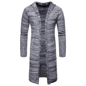 Jacket Cardigan Moda Casual Jumpers roupas de grife longa dos homens camisola
