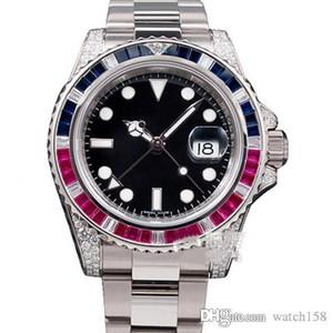 Herren Gold Uhrgurt Luxus-Sport-mechanische Uhr 40mm freies Verschiffen Tisch Fabrikverkäufe Art und Weise Diamant beobachtet vier Nadelwasserdicht