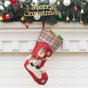 3Styles Noel çorap Dekor Süsleme Parti Dekoru Santa Noel Çorap Şeker Çorap Çanta Noel hediyeleri Çanta asılı kolye FFA3124