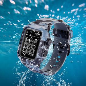 Apple Watch Series 4 3 2 1 스포츠 실리콘 방수 밴드 스트랩 교체 용 케이스 커버 42mm / 44mm