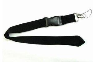Hot Sale!Free shipping Solid Black Color Lanyard Neck Strap Lanyard WHOLESALE fukuan