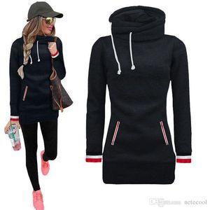 Skinny Bigsweety Turtleneck Pullovers Autumn Winter Women Hoodies Loose Casual Long Sweatshirt For Women Tracksuit Tops 2 Pocket Hoody