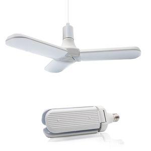 슈퍼 밝은 E27 LED 전구 SMD2835 주도 60W 접이식 팬 블레이드 각도 조절 천장 조명 홈 에너지 절약 조명