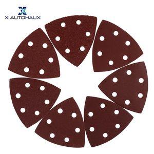 X Autohaux de 3,5 pouces auto-agrippante Disques abrasifs Pads 40-1000 Grits 6 trous Triangle pour Sandpaper Car polissage