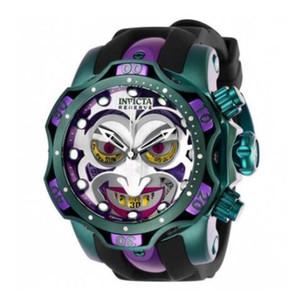 Invicta Réserve modèle - 26790 DC Comics Joker Venom Limited Edition suisse Quartz Chronograp montre à quartz de la ceinture de silicone