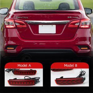 2pcs réflecteur à LED pour Nissan Bicks 2016 - 2020 Lampe de brouillard arrière de la queue de la voiture de la voiture de voiture de brouillard de pare-chocs de frein d'ampoule automatique