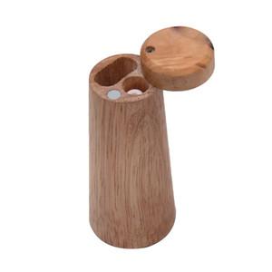 Madeira Dugout Fumar cigarro Containers com Um Hitter 98mm Cone Shapes Natural Wood Caixa de Cores Cachimbo Jars 16yh mais novo E1