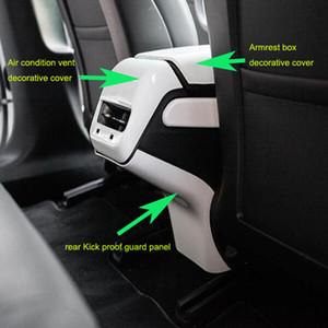 장식 커버 + 1 후면 에어컨 팔걸이 1 개 센터는 테슬라 Model3 모델 3의 장식 커버 + 1 개 후면 킥 증거 가드 패널을 배출
