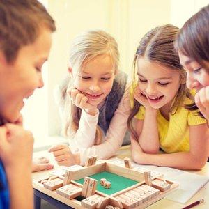 Четырехсторонний Flop игры Digital Wooden Board Game Fun Family Parent-Child Game Party Путешествия обучения Развивающие игрушки Math игрушки # 30