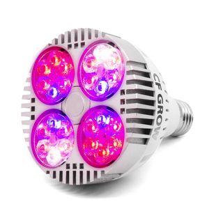 120W COB LED crece la luz E26 E27 base del zócalo del espectro completo crece la lámpara para las plantas de interior Pequeña tienda creciente