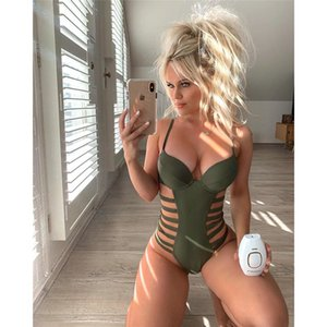 2020 Sexy One Piece Swimsuit Women Swimwear Push Up Monokini Bandage Swim Suit Female Bathing Suit Summer Beach Wear Swimsuit XL MX200613