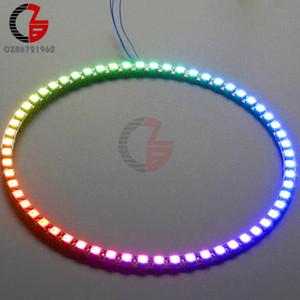 için Kablosuz WiFi Kontrol ESP8266 ESP-01 ESP-01S WS2812B 12 16 24 60 LED 5050 RGB LED Halka LED Adaptörü Kontrolörü