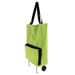 Oxford Foldable Wheel Bag Shopping Camping Trolley Storage Carrier Cart Tote Laundry Basket Lage Shoulder Hand Tote Bag