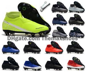 2020 Phantom Visione VSN Elite DF SG-Pro Anti Calcio Clog Fuoco New Lights acciaio Spike Mens alla caviglia alta tacchetti calcio calza il formato degli Stati Uniti 6.5-11