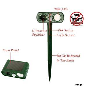 Ultrasonic Animal Repeller inteligente Cães Gatos Repelente Outdoor Solar Waterproof Rat Mosquito Repeller radiação Ferramenta DBC BH3222