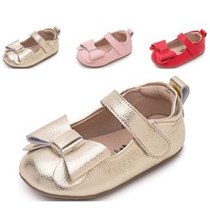 2019 sapatos Toda venda de bebê arco envio gratuito de sapatos meninas de outono Primavera nó vermelho rosa designers de ouro sapatos eur 22-35