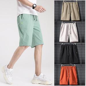 EU Stock DHL Mens Fitness Gym Sports executando calças curtas M-4XL cor sólida Mens Shorts Casual FY9108 Início joggings
