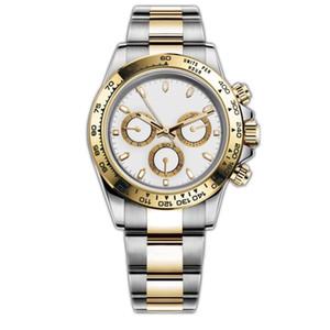 Luxury Mens orologi 116500LN Designer Guarda Montre De Luxe automatico da polso in acciaio inossidabile 316L Lunetta fibbia pieghevole Adustable