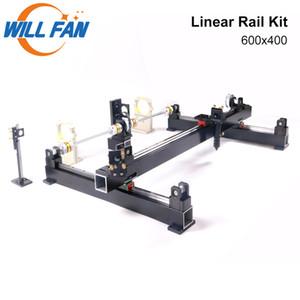 Will Fan 600x400mm Guia Linear Rail Kit de Metal Mecânica Component Set Monte CNC 6040 Co2 Laser Engraving Cortador de máquina