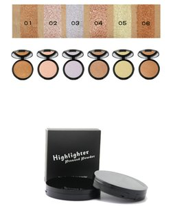 Wholesale No logo Makeup Highlights Pressed Powder 6 colors Face Powder Face Contour full coverage Concealer Highlighter Powder Foundation